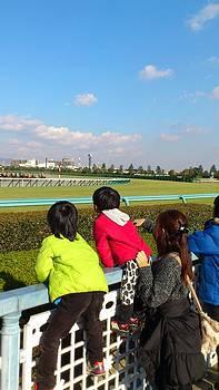 Horse racing by Yoshikazu Yamaguchi