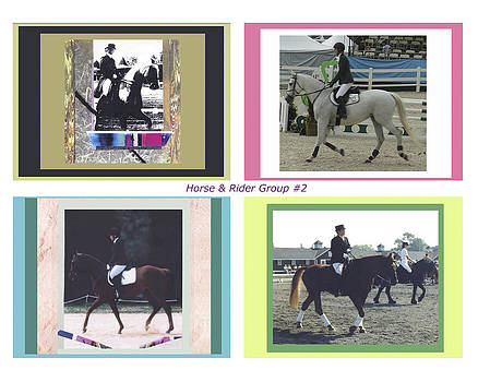 Horse Rider Group 2 by Mary Ann  Leitch