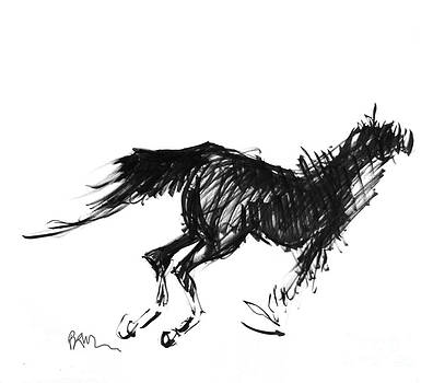 Horse Running Left by Paul Miller