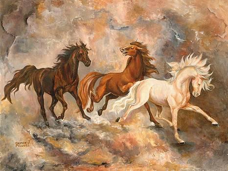 Horse Trio by Carole Powell