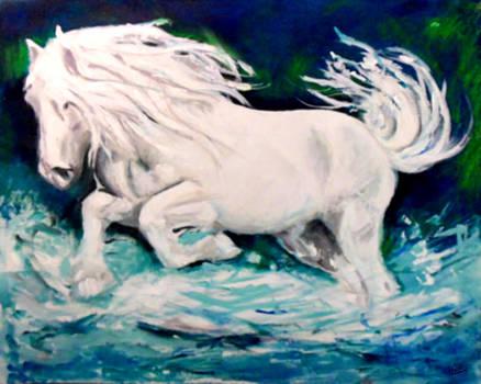 Marcello Cicchini - Horse Under Neon