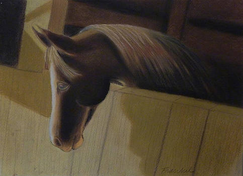 Horse Waiting by Patricia Frankel