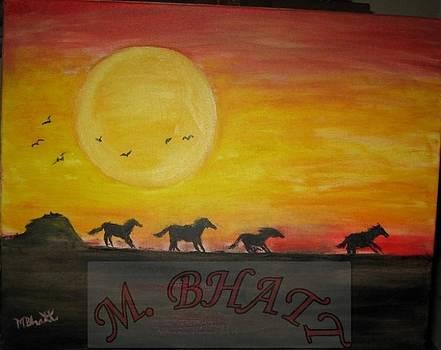 Horses at Dust by M Bhatt