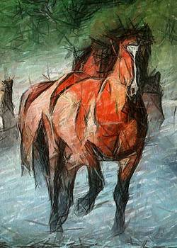 Horses Coming Home by Amy G Taylor