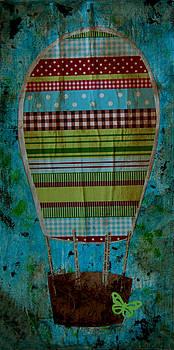 Hot Air Balloon in Blue Sky by Nicole Dietz