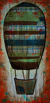 Hot Air Balloon in Orange Sky by Nicole Dietz