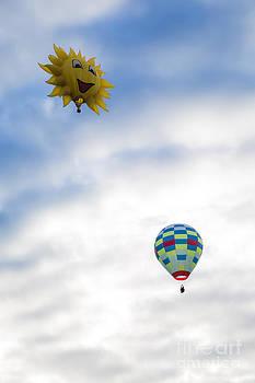 Hot Air Balloons in Flight by Brenda Giasson