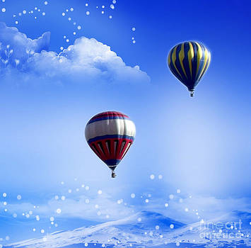 Linda Rae Cuthbertson - Hot Air Balloons in Winter