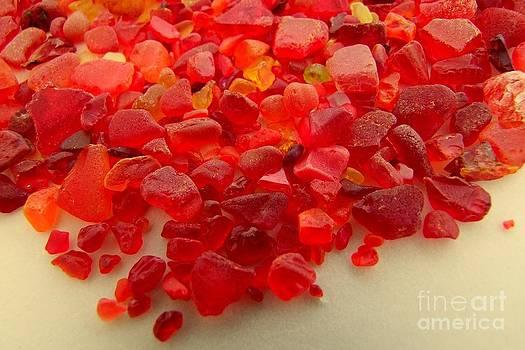 Mary Deal - Hot Orange Beach Glass