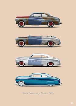 Hot Rod Sequence Mercury Coupe 49 Bkg Cream by Gorka Aranburu