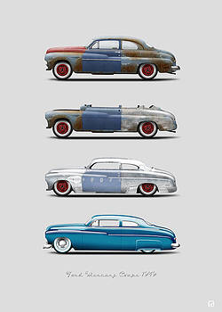 Hot Rod Sequence Mercury Coupe 49 Bkg Gray by Gorka Aranburu