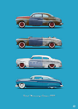 Hot Rod Sequence Mercury Coupe 49 Bkg Hard Blue by Gorka Aranburu
