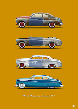 Hot Rod Sequence Mercury Coupe 49 Bkg Hard Orange by Gorka Aranburu