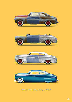 Hot Rod Sequence Mercury Coupe 49 Bkg Orange by Gorka Aranburu