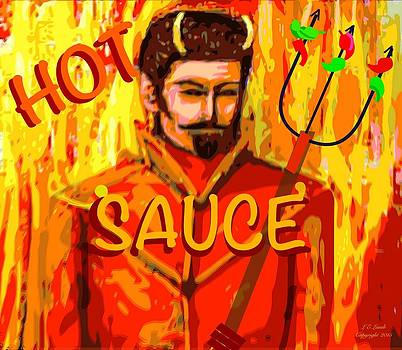 Larry Lamb - Hot sauce decor art