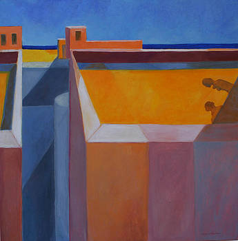 Hot yellow roof by Victoria Sheridan
