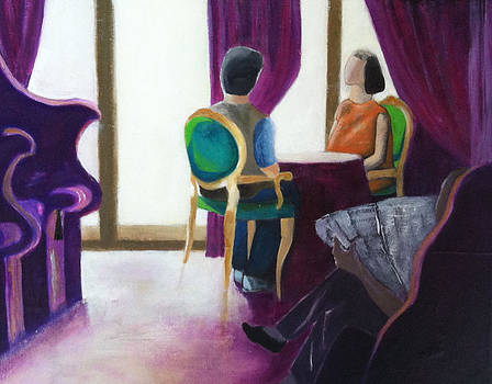 Hotel Lounge Venice Italy by Elizabeth  Bogard