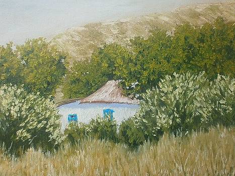 House at the foot of the hill by Yaroslav Kuvshinov