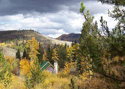 House in the Fall Mountains by Cherie Haines