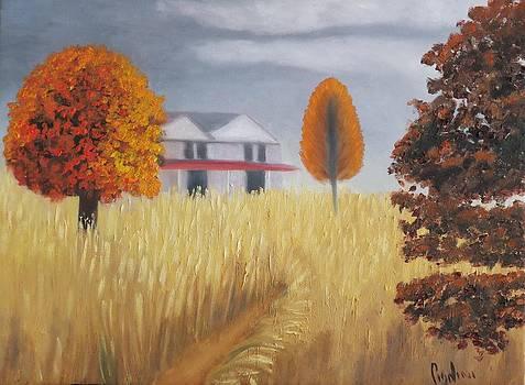 House in the Field by Gloria Cigolini-DePietro