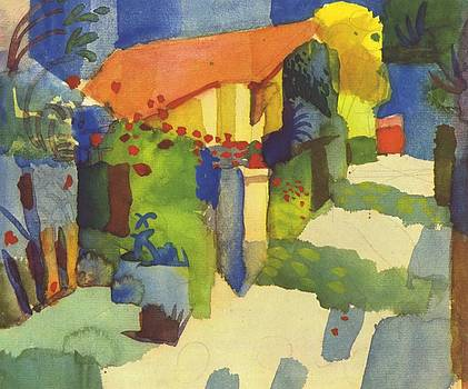 House In The Garden by August Macke