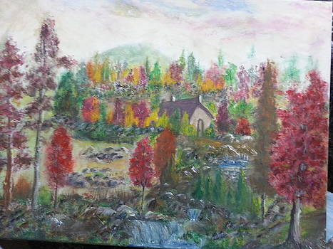 House Mid Colorful Trees by Kam Abdul