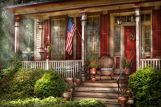 Mike Savad - House - Porch - Belvidere NJ - A classic American home