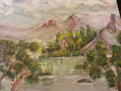 House Surrounded By Red Mountains by Kam Abdul