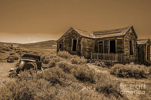 Stephen Whalen - House with Car in Sepia