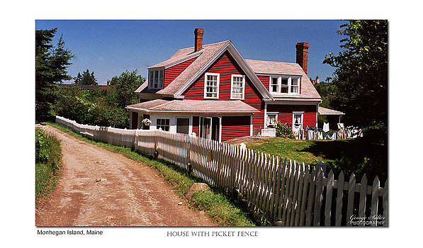 House With Picket Fence by George Salter