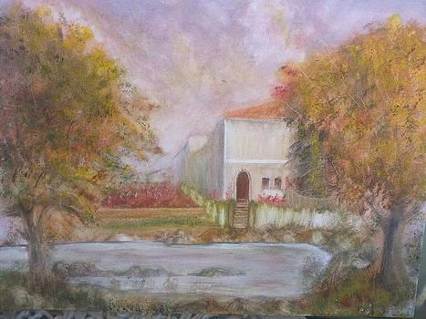Houses Near The Lake by Kam Abdul