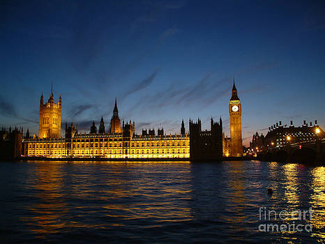 Houses of Parliament at dusk - London by OUAP Photography
