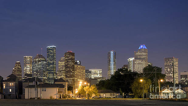 Houston at night by John Cooper