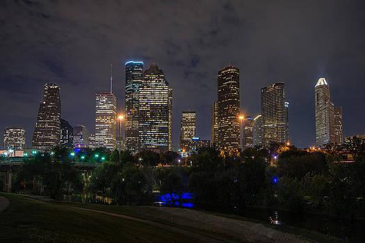 Todd Aaron - Houston Skyline At Night