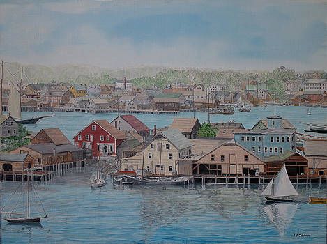Howard Blackburn in Smith Cove by Laurence Dahlmer