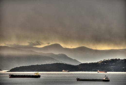Howe Sound Mountain Sunset by Doug Farmer