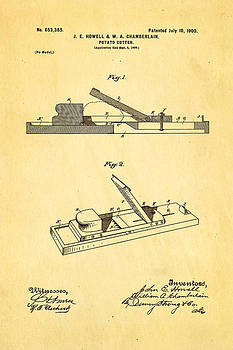Ian Monk - Howell and Chamberlain French-Fry Potato Cutter Patent Art 1900