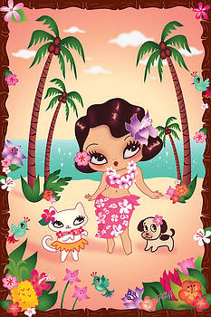 Hula Lulu by Miss Fluff Claudette Barjoud