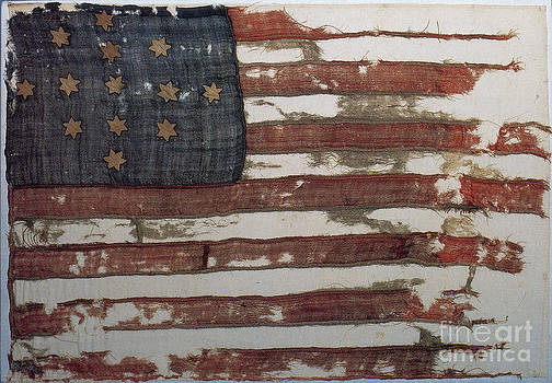 Photo Researchers - Hulbert Flag Early US Flag 1776