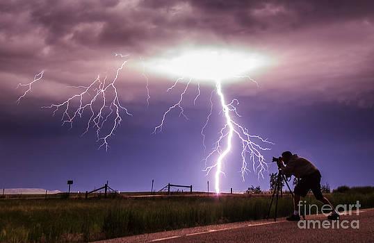 Human versus storm by Marko Korosec