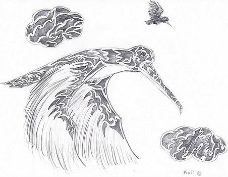 Humming Bird  by Kali Kardsbykali
