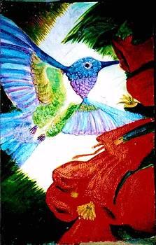 Anne-Elizabeth Whiteway - Hummingbird and Trumpet Vines