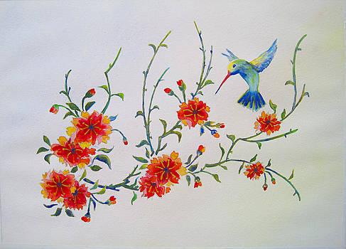Hummingbird Delight by Corynne Hilbert