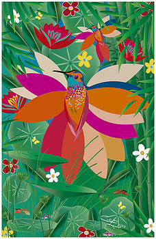 Hummingbird - Limited Edition  Of 10 by Gabriela Delgado
