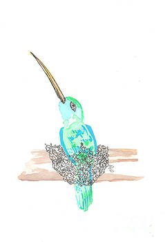 Hummingbird in a Nest by Bernadette Crotty