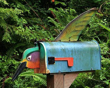 Art Block Collections - Hummingbird Mailbox