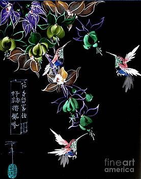 LINDA SMITH - Hummingbirds and Fuchsia
