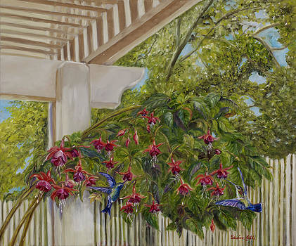 Hummingbirds in Spring by Maria Gibbs