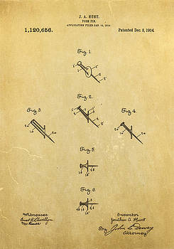 Ian Monk - Hunt Push Pin Patent Art 1914