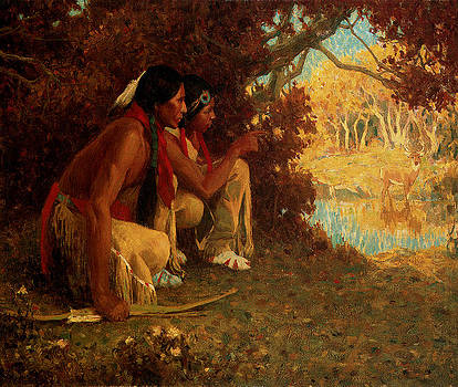 Eanger Irving Couse - Hunting for Deer